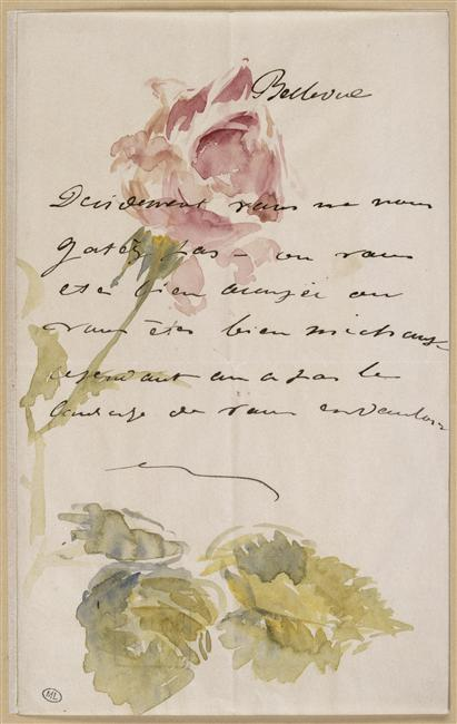 edouard manet lettre